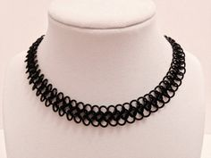 "1/3"" Wide Thin Lightweight Black Anodized Aluminum Nickel Free Goth / Gothic Chainmail Metal Choker Collar Necklace by JohnsChainmailShop from John's Chainmail Shop. Find it now at http://ift.tt/2do7IRM!"