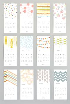 Patterned Wall Calendar