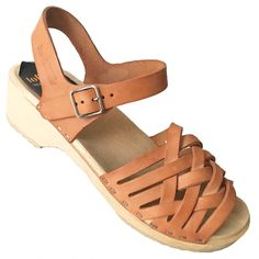 SWEDISH HASBEENS Clog Sandal Braided Huarache Ankle Strap Low Natural Tan 40  #SwedishHasbeens #ClogSandals #Casual Hasbeens Clogs, Swedish Hasbeens, Wooden Clogs, Clog Sandals, Natural Tan, Huaraches, Ankle Strap, Braids, Casual