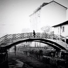 First winter, old memories. Empty navigli, Milan, Italy. - @Luca Anania- #webstagram