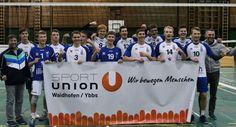 Waidhofen: Volleyball und Fußball im Hoch! Sport, Volleyball, Tech Companies, Company Logo, Logos, Deporte, Sports, Logo, Volleyball Sayings