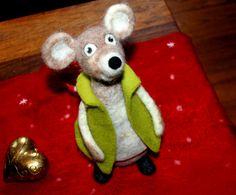 Filzdose,  Alfred die Maus, gefilzt von Frau Brunsels Filz auf DaWanda.com