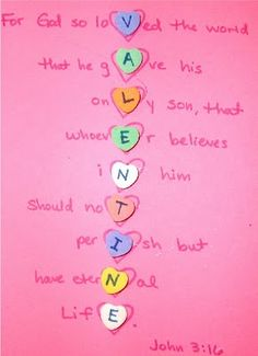 Probably not with the bible verse but I like the idea, maybe just cute statements for each letter