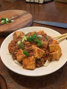 [homemade] ma po tofu and noodles http://ift.tt/2mn5rgp