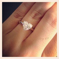 1.73 Heart shaped diamond ring.