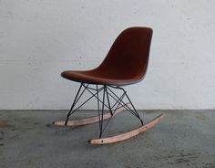 tweed upholstery w/white fiberglass back. authentic.