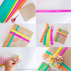 FUN WAYS TO WRAP WITH TISSUE PAPER I love getting creative with my gift wrap. I have a slight obsession with stocking up and buying all…I love getting creative with my gift wrap. I have a slight obsession with stocking up and buying all… Birthday Gift Wrapping, Christmas Gift Wrapping, Gift Wrapping Ideas For Birthdays, Creative Gift Wrapping, Creative Gifts, Wrapping Gifts, Paper Gifts, Diy Paper, Paper Ribbon