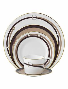 Wedgwood China Equestria 5 Piece Place Setting