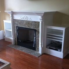 Surround for ventless fireplace.