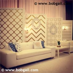 Gorgeous paneling created by Bob Gail Special Events