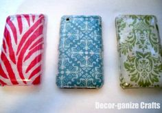 DIY-cell-phone-covers- I am sooo making about 4 of these, change out often!