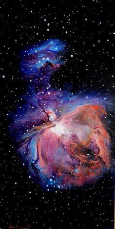 https://flic.kr/p/sptTKc | M42 Hubble Space Telescope Tribute | Oil on Panel cm 28 x 55 x 3 . Palette knife Technique. Davide Sigillò - Florence, Italy