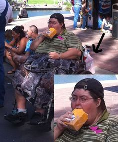 This woman eating a block of cheese. | 42 People You Won't Believe Actually Exist
