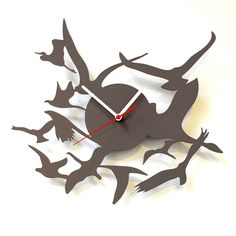 Birds Wall Clock Gray  by Basta