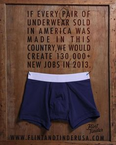 Flint Tinder USA is rugged and refined men's underwear. Makers of the most comfortable men's underwear, backed by a 100% satisfaction guarantee.