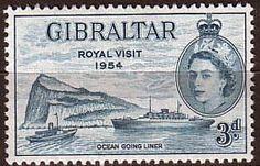 Gibraltar 1954 Queen Elizabeth II Royal Visit Fine Mint SG 159 Scott 146 Other Gibraltar Stamps HERE