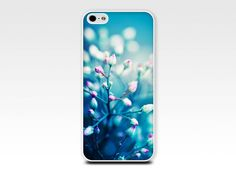 iphone 4 case 4s 5 pink and teal floral by mylittlepixels