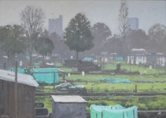 Winter Allotments, Christopher Miers Sen RBA   Mall Galleries