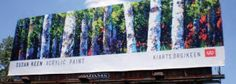 Bringing billboard art to a city of drivers