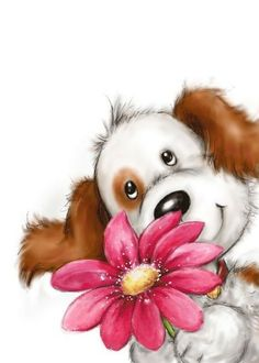 Cute Animal Illustration, Cute Animal Drawings, Animal Sketches, Cute Drawings, Teddy Bear Quotes, Happy Paintings, Tatty Teddy, Cute Characters, Watercolor Cards