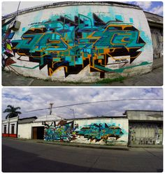 Graffiti Mural Jota One - Anck Millan Palmira - Valle - Colombia