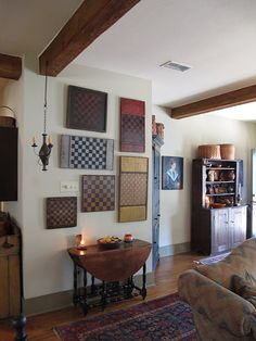 Beautiful antique gameboard wall..