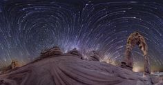 Michigan-based photographer Vincent Brady uses an elaborate 4-camera rig and lots of software to capture what he calls Planetary Panoramas. These are somewhat similar to the tiny planet videos we've seen the last few months, but the results are quite a bit more dramatic. He shares about his