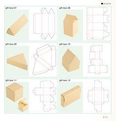 template - imprimivéis caixas para presente