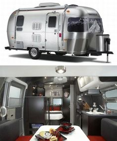 Airstream and Victorinox hook up for limited edition Swiss Army trailer. This has to be efficient and/or totally cool. Airstream Bambi, Airstream Travel Trailers, Vintage Airstream, Vintage Trailers, Camper Trailers, Airstream Sport, Vintage Motorhome, Vintage Campers, Tiny Camper