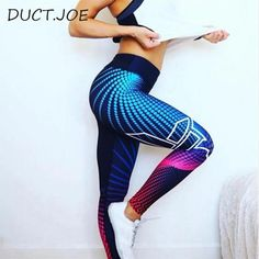 b340b7e9f6d3e Fashion Spring Autumn Push Up Leggings Women Pants High Waist Fitness  Legging Print Workout Breathable Leggins Female S-XL