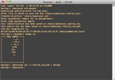 2014-03-24 I learned a new trick: how to generate an ssh key on Mac Terminal.