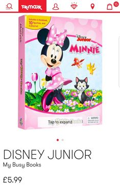 My Busy Books, Disney Junior, Minnie Mouse, Disney Characters, Fictional Characters, Shopping, Art, Art Background, Kunst