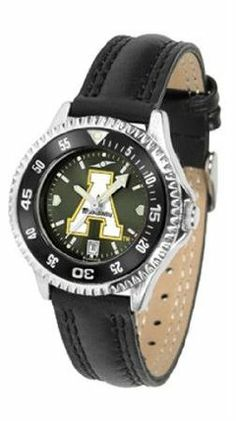 Appalachian State Mountaineers ASU NCAA Womens Leather Anochrome Watch by SunTime. $79.95. Showcase the hottest design in watches today! A functional rotating bezel is color-coordinated to compliment your favorite team logo. A durable long-lasting combination nylon/leather strap together with a date calendar round out this best-selling timepiece.The AnoChrome dial option increases the visual impact of any watch with a stunning radial reflection similar to that of the...