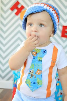 Nemo Tie and Suspender Bodysuit with Pants by shopantsypants