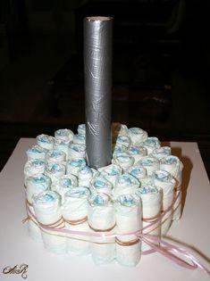 Gâteau de couches pour une naissance