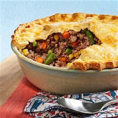 French Meat and Vegetable Pie Recipe