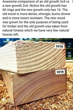 See the difference in growth rate between new and old trees - FunSubstance