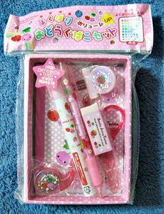 Q-lia Cherry Stationery Set