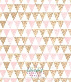Gold Glitter Pink Triangles  #backdrops #backdrop #dropzbackdropsaustralia #photographybackdrop #backdropsaustralia #cakedrops #photobackdrop #vinylbackdrop #cakedrop #scenicbackground