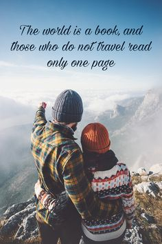 The world is a book, and those who do not travel read only one page~ Yearbook Quotes, Senior Quotes, Quotable Quotes, Qoutes, North Carolina Colleges, Funny Travel Quotes, Baltimore City, Biker Girl, First Page