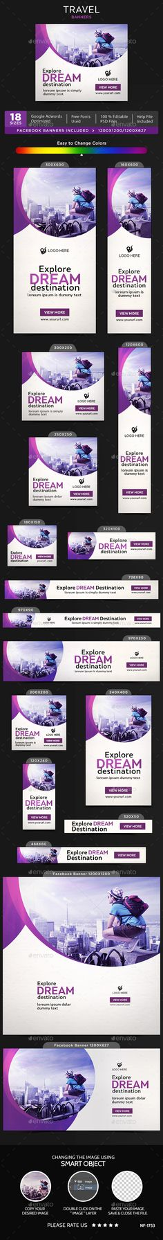 Travel Banners - Banners & Ads Web Elements Download here : https://graphicriver.net/item/travel-banners/19770442?s_rank=130&ref=Al-fatih