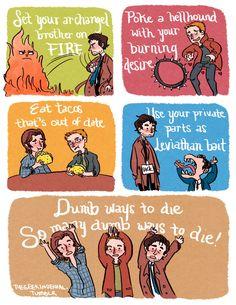 Dumb ways to die Supernatural style lol