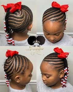Toddler Braided Hairstyles, Toddler Braids, Lil Girl Hairstyles, Black Kids Hairstyles, Girls Natural Hairstyles, Toddler Hair, Children Hairstyles, Easy Hairstyles, Little Girl Braid Styles