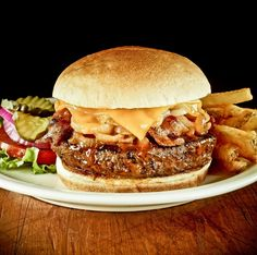 Hickory BBQ Bacon Burger    [Available only at Hard Rock Café Pune & Bengaluru]