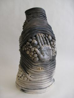 Hand Coil Pot- Claire Woolard ClayWorks. Combine coils, balls of clay and molded clay pieces in a single coherent piece.