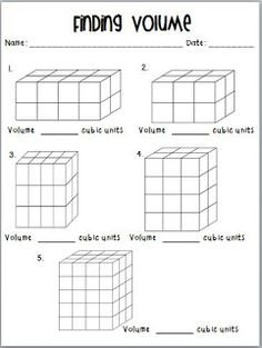 Worksheets Volume Counting Cubes Worksheet student centered resources worksheets and cubes on pinterest teaching to inspire in 5th volume common core resource