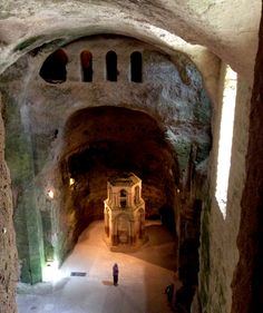 Aubeterre-sur-Dronne, France -  This is not just pretty - it has the amazing subterranean church of St Jean, originally carved out of the cliff face in the 7th century then enlarged in the 12th.
