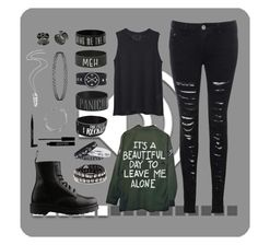 """""""Untitled #58"""" by thenerdinblack ❤ liked on Polyvore featuring rag & bone/JEAN, Glamorous, Dr. Martens, Diesel, Givenchy, Topshop, Balenciaga and Lord & Berry"""