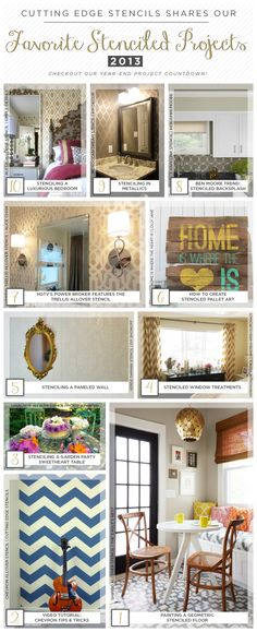 Cutting Edge Stencils shares the favorite stenciled room ideas and crafts for 2013!