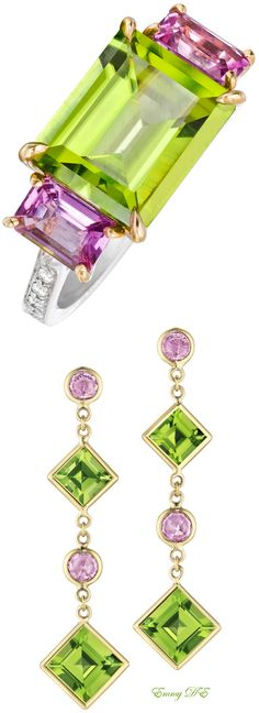 "~Paolo Costagli Peridot & Pink Sapphire ""Florentine"" 